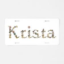 Krista Seashells Aluminum License Plate