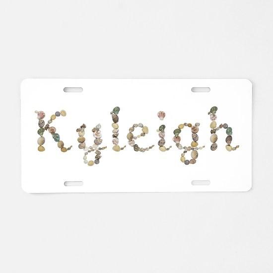 Kyleigh Seashells Aluminum License Plate