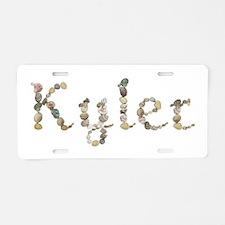 Kyler Seashells Aluminum License Plate