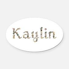 Kaylin Seashells Oval Car Magnet