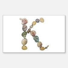 K Seashells Rectangle Decal