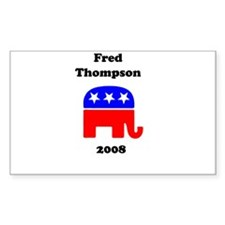 Fred Thompson Rectangle Decal