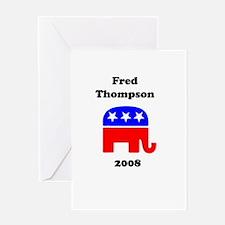Fred Thompson Greeting Card