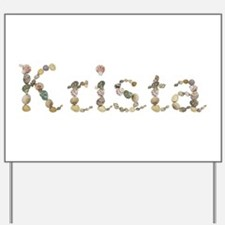 Krista Seashells Yard Sign