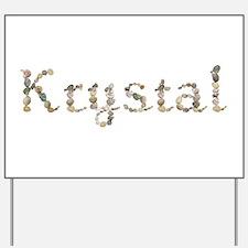 Krystal Seashells Yard Sign
