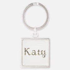 Katy Seashells Square Keychain