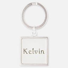 Kelvin Seashells Square Keychain