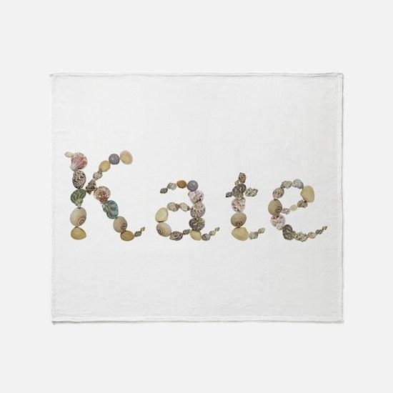 Kate Seashells Throw Blanket