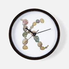 K Seashells Wall Clock