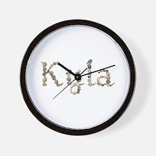 Kyla Seashells Wall Clock