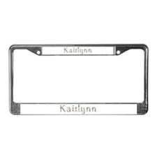Kaitlynn Seashells License Plate Frame
