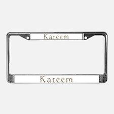 Kareem Seashells License Plate Frame