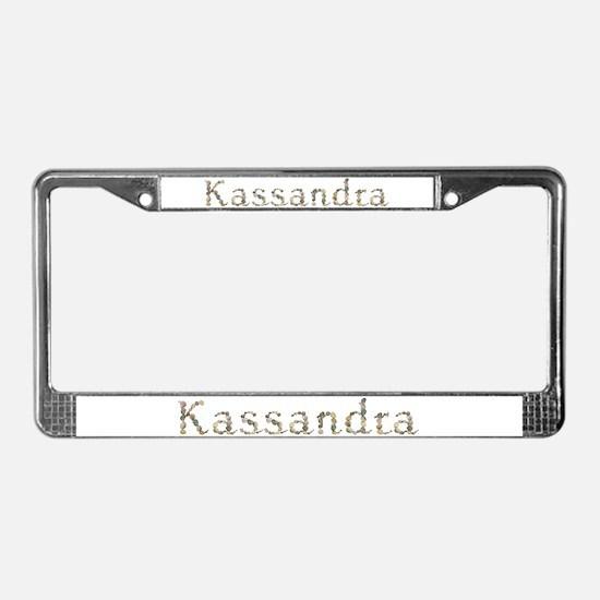 Kassandra Seashells License Plate Frame