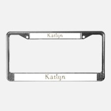 Katlyn Seashells License Plate Frame