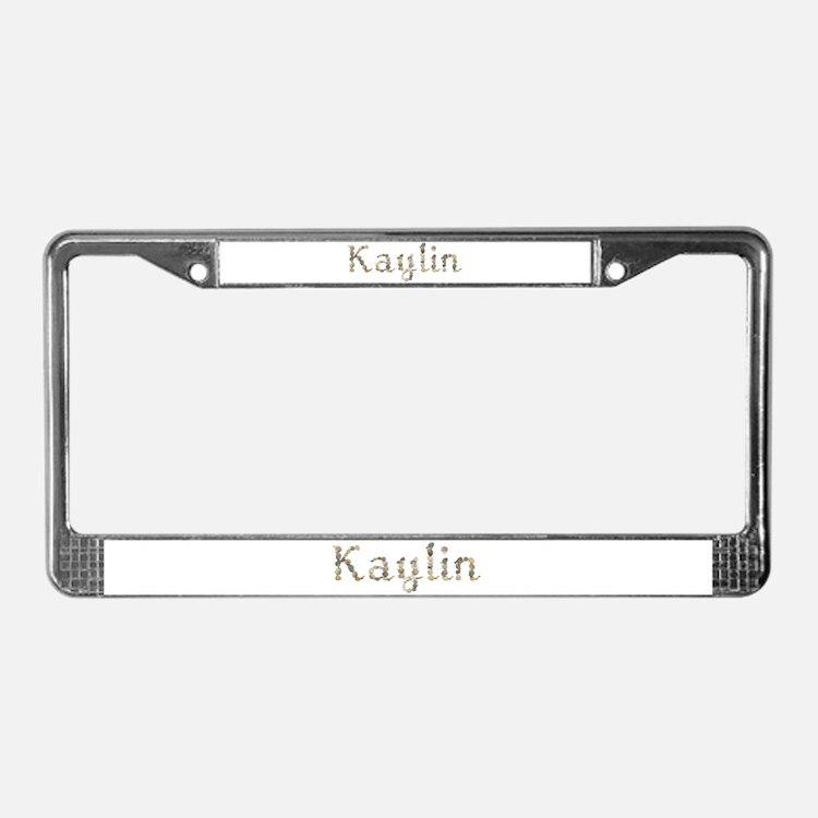 Kaylin Seashells License Plate Frame