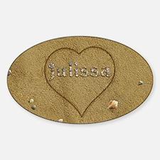 Julissa Beach Love Sticker (Oval)