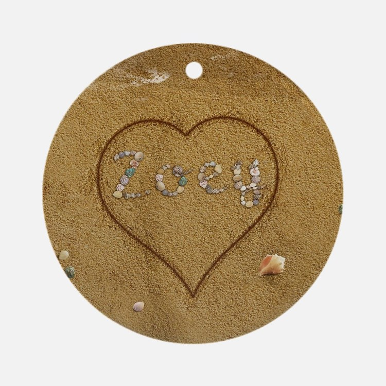 Julissa Beach Love Ornament (Round)