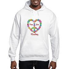 Bowling Peace Love Hoodie