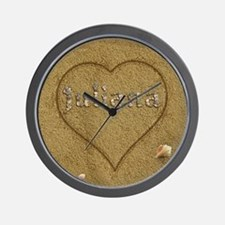 Juliana Beach Love Wall Clock