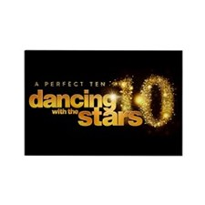 DWTS Perfect Ten Rectangle Magnet