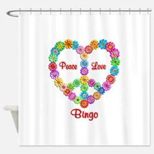 Bingo Peace Love Shower Curtain