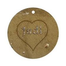 Judi Beach Love Ornament (Round)