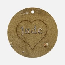 Jude Beach Love Ornament (Round)