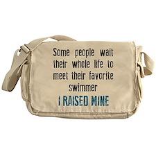 Favorite swimmer Messenger Bag