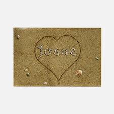 Josue Beach Love Rectangle Magnet