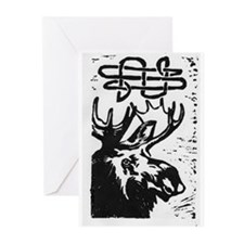 Moose Ruminations Greeting Cards (Pk of 10)
