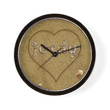 Jordy Beach Love Wall Clock