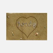 Jordy Beach Love Rectangle Magnet