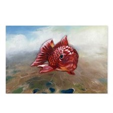 Red Fish Postcards (Package of 8)