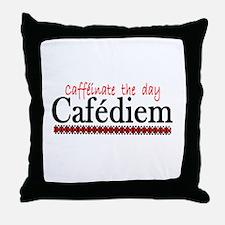 CAFEDIEM Throw Pillow