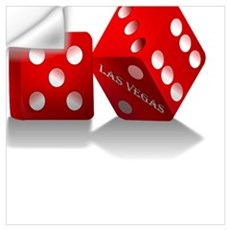 Las Vegas Red Dice Wall Decal