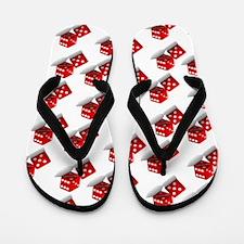 Las Vegas Red Dice Flip Flops