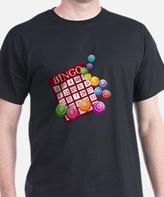 Las Vegas Bingo Card and Bingo Balls T-Shirt