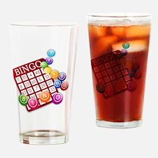 Las Vegas Bingo Card and Bingo Ball Drinking Glass