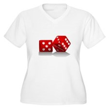 Las Vegas Red Dice Plus Size T-Shirt