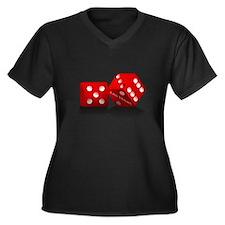 Las Vegas Red Dice Plus Size T-Shirt