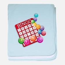Las Vegas Bingo Card and Bingo Balls baby blanket