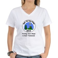 """Visiting"" Women's V-Neck Teeshirt T"