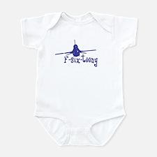 F-six-teeny -blue Infant Bodysuit