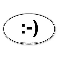 Emoticon Eurogeek Oval Decal