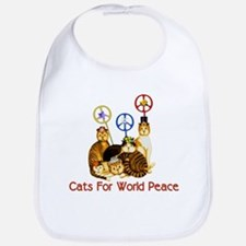 World Peace Cats Bib