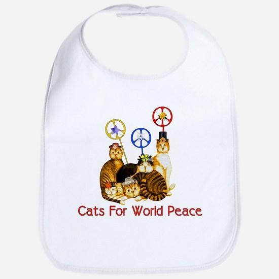 World Peace Cats Bib