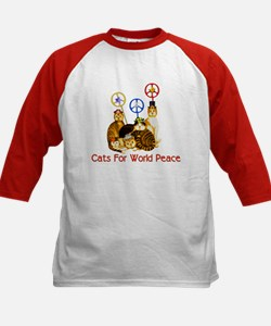 World Peace Cats Kids Baseball Jersey
