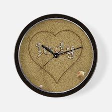 Jody Beach Love Wall Clock