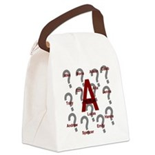 Who is A Collage?? Canvas Lunch Bag