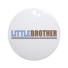 little brother brown blue Ornament (Round)